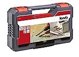 kwb 240285 SDS-Plus Hammer-Meißel-Set, 5-teiliges Stein- u. Beton-Meißel Satz im Kunstoff-Koffer