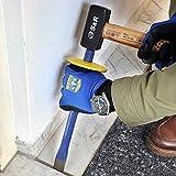 S&R Flachmeißel mit Handschutz 25 x 300 mm, 40CRV, Meissel 52-58 HRC, Handmeissel rutschfester ergonomischer Handgriff, Stemmeisen mit extra breiter Schlagfläche