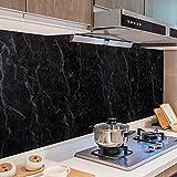 Surmounty Fliesenaufkleber Deko Folie 500x60cm, PVC Fliesensticker Fliesen Folie, Selbstklebende Tapete Aufkleber Klebefolie, Wandfliese Sticker für Küche, Schrank, Möbel, Tisch