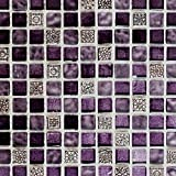 Mosaik Fliese Transluzent lila Glasmosaik Crystal Resin lila lila matt für WAND BAD WC DUSCHE KÜCHE FLIESENSPIEGEL THEKENVERKLEIDUNG BADEWANNENVERKLEIDUNG Mosaikmatte Mosaikplatte